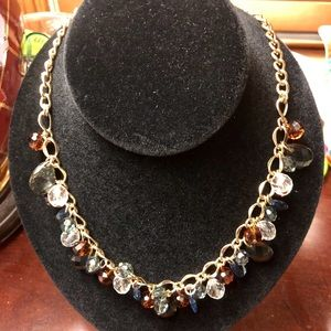 Jewelry - Beautiful Golden necklace with with glass beads.